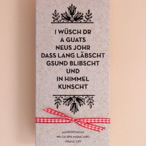 "Schokolade Weihnachten: ""A guats Neus..."""
