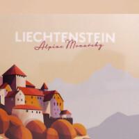 """Znünibrettchen Liechtenstein: """"Schloss Vaduz - Illustration"""""""