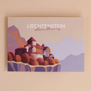 "Postkarte Liechtenstein ""Schloss Vaduz -..."