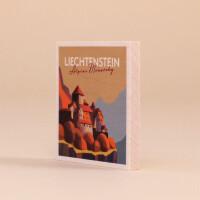 "Holzmagnet Liechtenstein ""Schloss Vaduz - Illustration"""