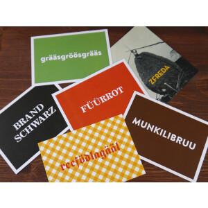 "Postkarten-Set ""Liechtenstein Dialekt"""