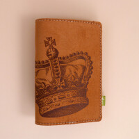 Reisepass Hülle aus Leder: Krone