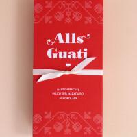"""Schokolade """"Alls Guati"""" Rot: Milch"""