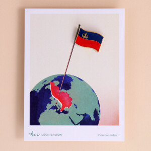 Pin: Liechtenstein Flagge