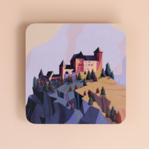 """Untersetzer aus Melamin: """"Burg Gutenberg"""""""