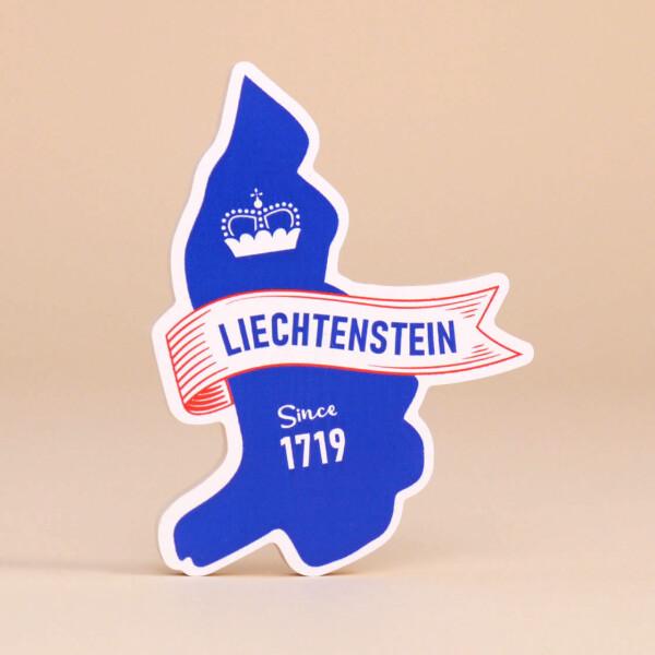 """Holzmagnet: """"300 Jahre Edition - Liechtenstein Since 1719"""""""