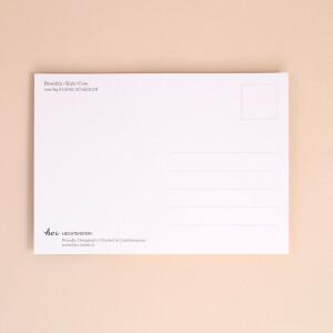 """Postkarte HOI Liechtenstein """"Buschla / Kuh"""" Illustration"""