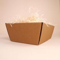 Geschenkschachtel gross mit Holzwolle gefüllt
