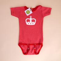 Baby-Body Kurzarm Rot: «Krone»