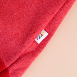 Baby-Body Kurzarm Rot: «Krone» 62/68