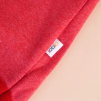 Baby-Body Kurzarm Rot: «Krone» 74/80
