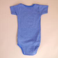 Baby-Body Kurzarm Blau: «Krone» 62/68