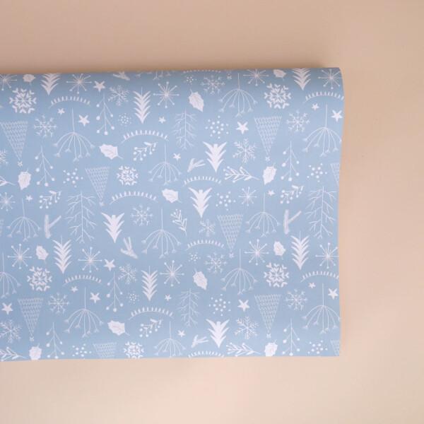 Geschenkpapier: Weihnachten hellblau