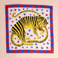 Stofftüchlein Lächelnder Tiger