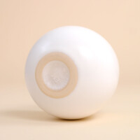 EM Keramik Pinguinbecher 2dl Weiss glänzend