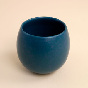 EM Keramik Pinguinbecher 2dl Petrol Effekt